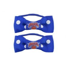 NBA New York Knicks Bow Pigtail Holder, 2-Pack