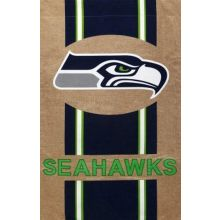 "NFL Licensed Burlap 28"" x 44"" House Flag (Seattle Seahawks)"