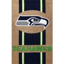 "NFL Licensed Burlap 28"" x 44"" House Flag (Seattle Seahawks)"