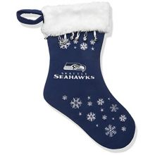 NFL Seattle Seahawks Full Embroidered Snowflake Stocking