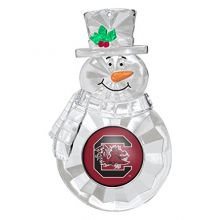 NCAA South Carolina Fighting Gamecocks Traditional Snowman Ornament