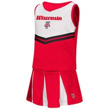 "Colosseum Wisconsin Badgers NCAA Toddler""Pom Pom"" 2 Piece Set Cheerleader Outfit"