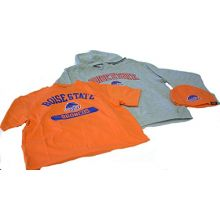 NCAA Team Officially Licensed Youth Boise State Hat Hoody and Tee 3-Pack Gift Set (Medium)