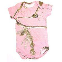 Creative Knitwear NCAA Licensed Missouri Mizzou Tigers Pink Realtree Camo Bodysuit (12 Months)