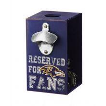 Officially Licensed Baltimore Ravens Team Bottle Opener Caddy