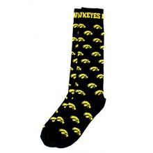 Donegal Bay NCAA Iowa Hawkeyes Dress Socks, Black