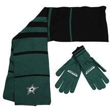Little Earth 500657-STAR NHL Scarf Glove Gift Set Stripe44; Dallas Stars