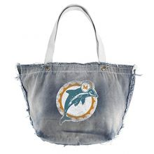 Littlearth Productions NFL Miami Dolphins Denim Vintage Tailgate Tote