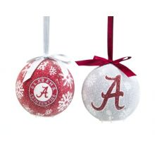 Alabama Crimson Tide Official NCAA LED Box Set Ornaments by Evergreen Enterprises