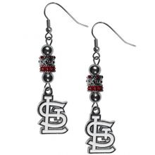 MLB St. Louis Cardinals Euro Bead Earrings, 7.5""
