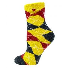 Donegal Bay NCAA Iowa State Cyclones Solid Fuzzy Socks, One Size, Red