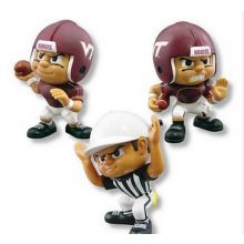 "NCAA Officially Licensed Lil' Teammates 3"" 3 Piece Collectible Team Set; Quarterback, Referee, and Running Back (Vi"