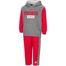 "Colosseum Wisconsin Badgers NCAA Toddler""Teamwork"" Fleece Hoodie and Pants Set"