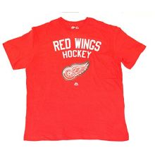 Majestic Athletic NHL Licensed Detroit Red Wings Appliqued Shirt (X-Large)