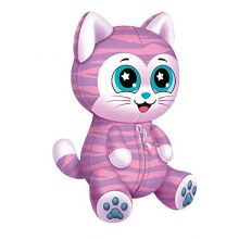 Novelty, Inc. Animal Travel Palz Reversible Stuffed Animal Neck Pillow - Striped Cat
