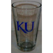 Boelter Brands NCAA Officially Licensed Kansas University Jayhawks Collectible 16 Oz Glass