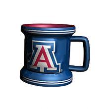 NCAA Arizona Wildcats Sculpted Mini Mug, 2-ounce