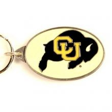 NCAA Officially Licensed Pewter Keychain Keyring (Colorado Buffalo's)