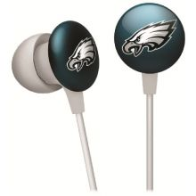 iHip NFF10200PHE NFL Philadelphia Eagles Mini Ear Buds, Green/White