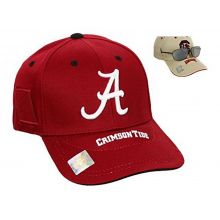 NCAA Licensed Alabama Crimson Tide Embroidered Side Pocket Baseball Hat Cap Lid