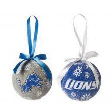NFL Licensed LED Light-up Ornament Set of 2 (Detroit Lions)