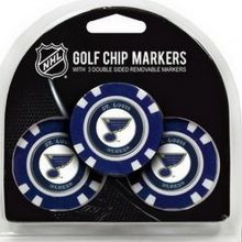 NHL Officially Licensed St. Louis Blues 3 Pack Magnetic Golf Chip
