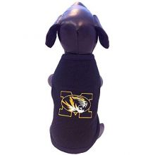 Bama Officially Licensed University of Missouri Mizzou Tigers Polar Fleece Dog Sweatshirt (XX-Small (4-9 lbs))
