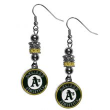 MLB Oakland Athletics Euro Bead Earrings, , 7.5""
