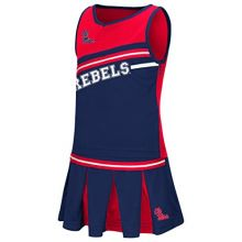 Mississippi Ole Miss Rebels NCAA Toddler Curling 2 Piece Set Cheerleader Outfit