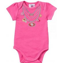 NFL Officially Licensed 2015 Girls San Francisco 49ers Girls Pink 1 Piece Creeper Crawler (0-3 Months)