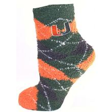 Miami Hurricanes Argyle Fuzzy Lounge Socks