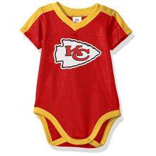 NFL Kansas City Chiefs Unisex-Baby Dazzle Bodysuit, Red, 0-3 Months
