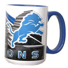Boelter Brands Detroit Lions Gridiron Ceramic 15 oz.Coffee Mug