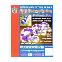Topperscot NFL Officially Licensed 3 pack Lighted Pathway Markers (Minnesota Vikings)