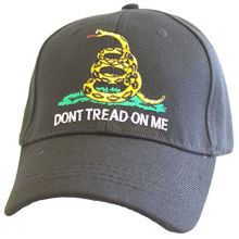 KYS Design Don't Tread On Me Black Adjustable Hat