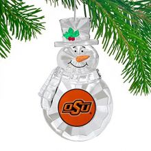 NCAA Oklahoma State Cowboys Traditional Snowman Ornament