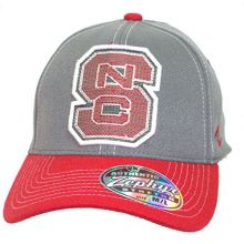 Zephyr NCAA Licensed NC State Wolfpack Stretch Fit Thick Embroidered Baseball Hat Cap (Medium/Large)