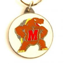 NCAA Officially Licensed Pewter Keychain Keyring (Maryland Terps)