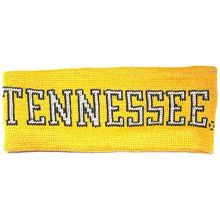 NCAA Licensed Tennessee Volunteers Light Orange Knit Outlined Team Name Sweatband Headband