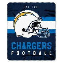 "NFL Los Angeles Chargers ""Singular"" Fleece Throw Blanket, 50"" x 60"""
