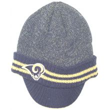 Fan Apparel Los Angeles Rams Navy Dual Striped Billed Youth Beanie