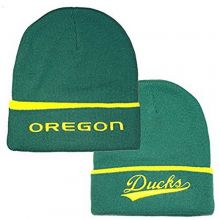 NCAA Licensed Oregon Ducks Team Name Embroidered Cuffed Beanie