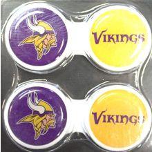 California Accessories Minnesota Vikings 2 Pack Contact Lens Case
