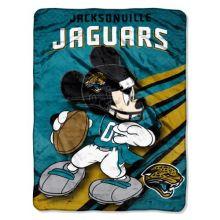 """NFL Jacksonville Jaguars """"Rush"""" Micro Raschel Throw Blanket, 46"""" x 60"""""""