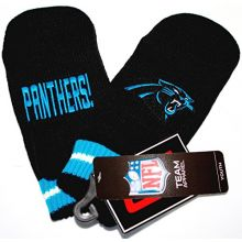 Carolina Panthers Youth NFL Team Logo Embroidered Mittens