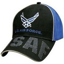 KYS Design Air Force Stitched Bill Adjustable Hat