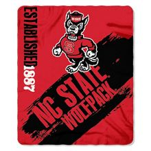 "NC State Wolfpack ""Painted"" Fleece Throw Blanket, 50"" x 60"""