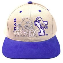 The Game NCAA Officially Licensed Brigham Young University (BYU) Flatbill Embroidered Hat Cap Lid