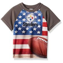NFL Pittsburgh Steelers Unisex Short-Sleeve Tee, Gray, 2T