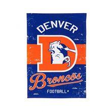 Team Sports America Denver Broncos Vintage House Flag - 28 x 44 Inches